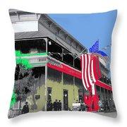 Hotel  Orndorff Colored American Flags Tucson Arizona Circa 1915-2012 Throw Pillow