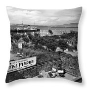 Hotel Pierre Dun Laoghaire 1958 Throw Pillow