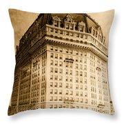 Hotel Pontchartrain Detroit 1910 Throw Pillow by Mountain Dreams