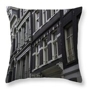 Hotel Rooms Clean And Simple Amsterdam Throw Pillow
