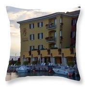 Hotel Sirmione. Lago Di Garda Throw Pillow