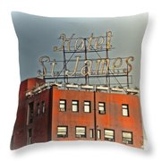 Hotel St. James Throw Pillow