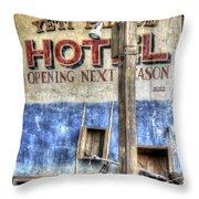 Hotel Yeti Throw Pillow