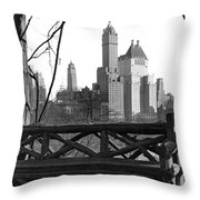 Hotels Seen From Central Park  Throw Pillow