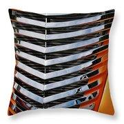 Hotrod Grill Throw Pillow