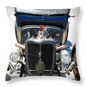 Hotrod Thunder Throw Pillow