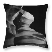 Hour Glass Bw Throw Pillow