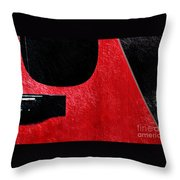 Hour Glass Guitar 4 Colors 1 - Tetraptych - Red Corner - Music - Abstract Throw Pillow