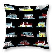 House & Garden Cover Illustration Of 18 Houses Throw Pillow