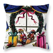 House & Garden Cover Illustration Of Christmas Throw Pillow