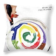 House & Garden Cover Of A Woman's Hand Stirring Throw Pillow