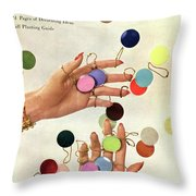 House & Garden Cover Of Woman's Hands With An Throw Pillow