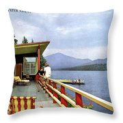 House & Garden Cover Of Women Sitting On The Deck Throw Pillow