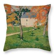 House Among Trees Throw Pillow