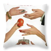 House And Garden 999 Christmas Gifts Cover Throw Pillow