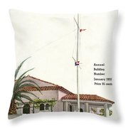 House And Garden Annual Building Number Cover Throw Pillow