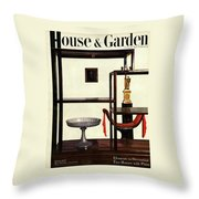 House And Garden Cover Featuring A Chinese Throw Pillow