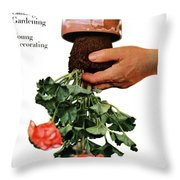 House And Garden Cover Featuring A Person Throw Pillow