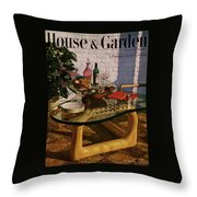 House And Garden Cover Featuring Brunch Throw Pillow