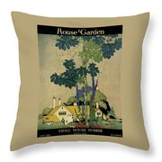 House And Garden Cover Throw Pillow by H. George Brandt