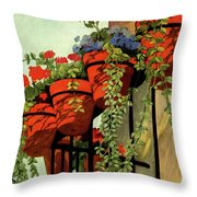 House And Garden Garden Furnishing Number Cover Throw Pillow
