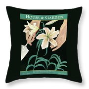 House And Garden Garden Furnishings Number Throw Pillow