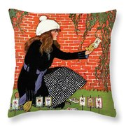 House And Garden Garden Planting Number Cover Throw Pillow