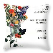 House And Garden Guide To Good Gardening Cover Throw Pillow