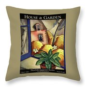 House And Garden Household Equipment Number Cover Throw Pillow