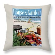 House And Garden Ideas For Summer Issue Cover Throw Pillow