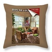 House And Garden Issue About Southern California Throw Pillow