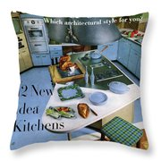 House And Garden Kitchen Ideas Issue Throw Pillow