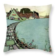 House And Garden Spring Garden Guide Throw Pillow