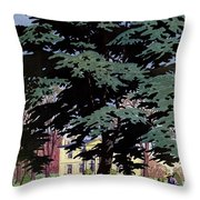 House And Garden Spring Gardening Guide Cover Throw Pillow