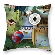 House And Garden Summer Camps And Cottages Cover Throw Pillow