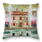 House And River Throw Pillow