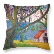 House And Trees Throw Pillow
