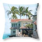 House At Land's End Throw Pillow