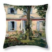 House At Rueil Throw Pillow