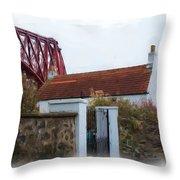 House At The Bridge Throw Pillow