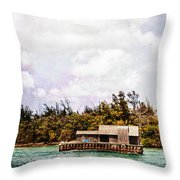 House Boat Throw Pillow