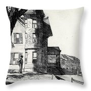 House By A River Throw Pillow