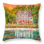 House By The Tidal Creek At Pawleys Island Throw Pillow