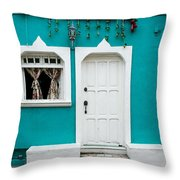 House Front Mexico Throw Pillow