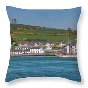 House In A Town, Portaferry Throw Pillow