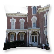 House In Denison Texas Throw Pillow