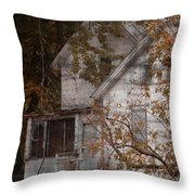 House In Fall Throw Pillow