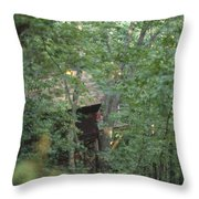 House In The Trees Throw Pillow