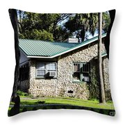 House Made Of Limestone Throw Pillow