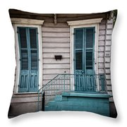 House Of Blue Doors Throw Pillow